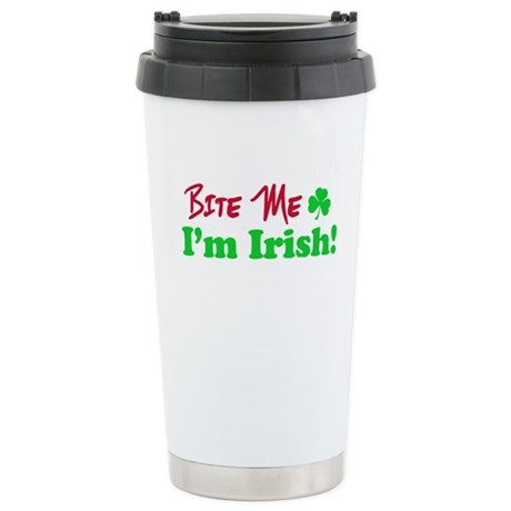 Bite Me I'm Irish Ceramic Travel Mug