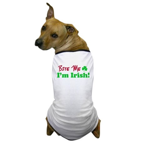 Bite Me I'm Irish Dog T-Shirt