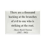 Henry David Thoreau 34 Rectangle Magnet (10 pack)