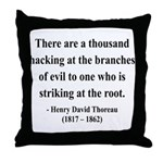 Henry David Thoreau 34 Throw Pillow