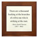 Henry David Thoreau 34 Framed Tile