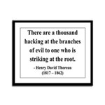 Henry David Thoreau 34 Framed Panel Print