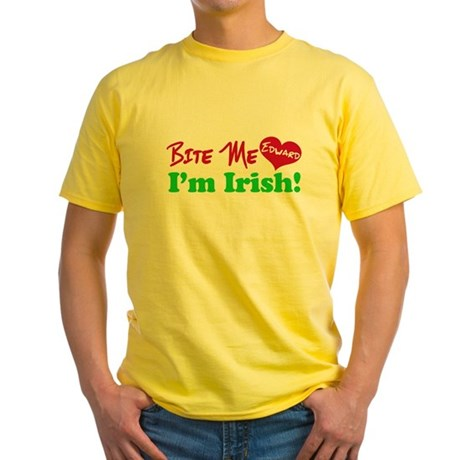 Bite Me Edward Yellow T-Shirt