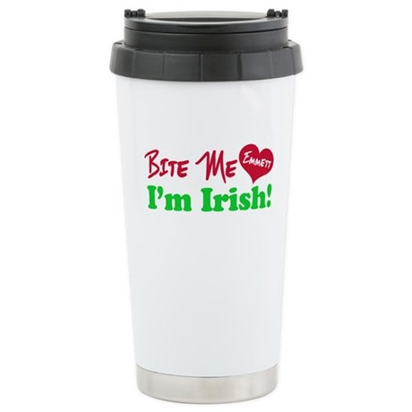 Bite Me Emmett Ceramic Travel Mug