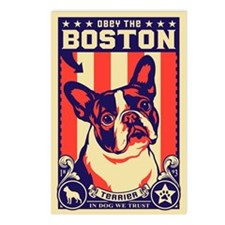 Boston Terrier USA Postcards (Package of 8)
