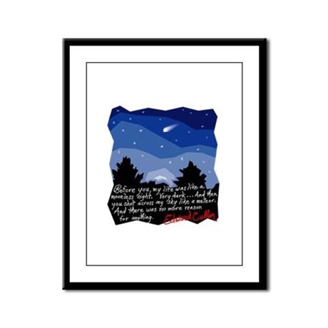 Twilight Meteor Framed Panel Print