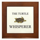 The Turtle Whisperer Framed Tile