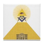 The Lodge and Eye Tile Coaster
