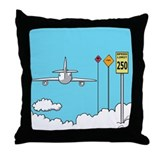 """Fly Safe"" Throw Pillow"