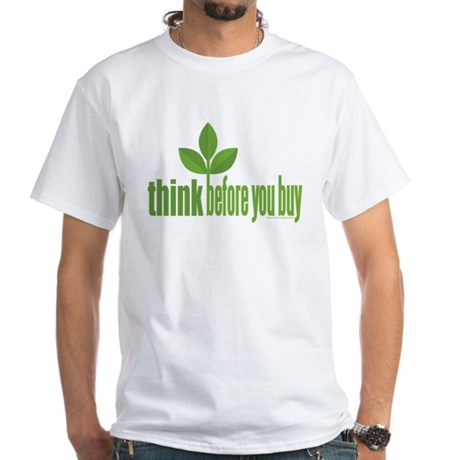 Buy Green White T-Shirt