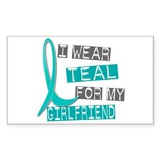 I Wear Teal For My Girlfriend 37 Decal