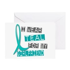 I Wear Teal For My Girlfriend 37 Greeting Card
