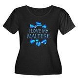 Maltese Women's Plus Size Scoop Neck Dark T-Shirt