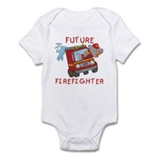 Fire Truck Future Firefighter Infant Bodysuit