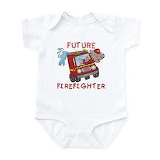 Fire Truck Future Firefighter Onesie