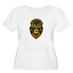 Madera Police Women's Plus Size Scoop Neck T-Shirt