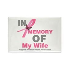 BreastCancerInMemoryWife Rectangle Magnet (10 pack