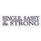 Single, Sassy & Strong Stickers
