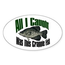 Crappie fish Oval Decal