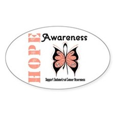 Endometrial Cancer Hope Oval Decal