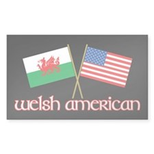 Welsh American Rectangle Sticker 50 pk)