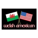 Welsh American Rectangle Decal