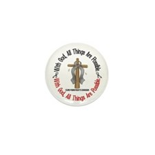 With God Cross Parkinson's Mini Button (10 pack)