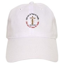 With God Cross Lung Cancer Baseball Cap
