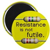 "Bright Yellow ""Resistance is not Futile"" Magnet"