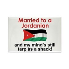 Married to a Jordanian Rectangle Magnet (10 pack)
