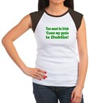 Must Be Irish Penis Dublin Women's Cap Sleeve T-Sh