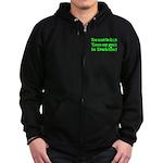 Must Be Irish Penis Dublin Zip Hoodie (dark)