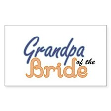 Grandpa of the Bride Rectangle Decal