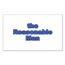 the Reasonable Man Rectangle Decal