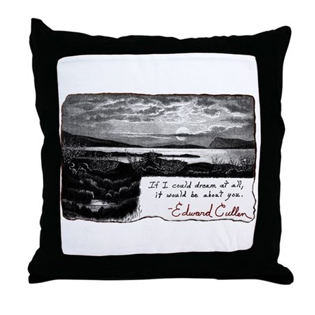 Twilight quote Throw Pillow