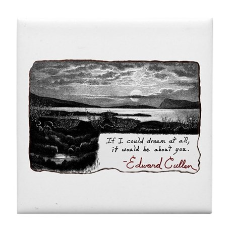 Twilight quote Tile Coaster