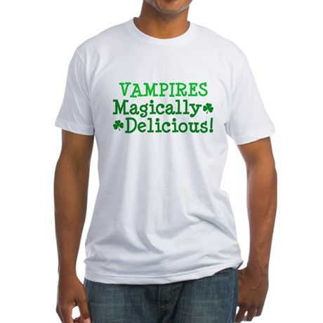 Vampires Magically Delicious Fitted T-Shirt