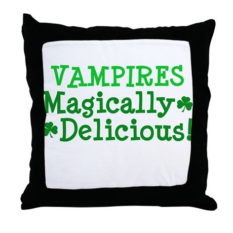 Vampires Magically Delicious Throw Pillow