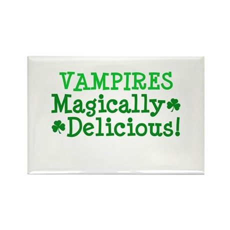 Vampires Magically Delicious Rectangle Magnet
