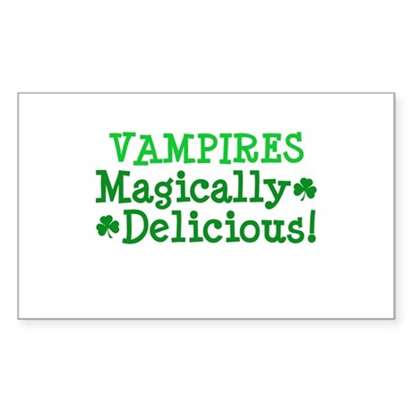 Vampires Magically Delicious Rectangle Sticker