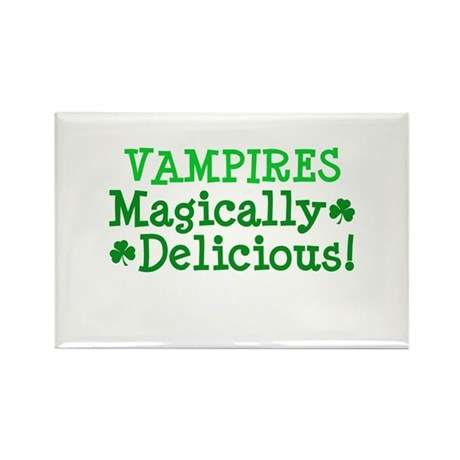Vampires Magically Delicious Rectangle Magnet (10