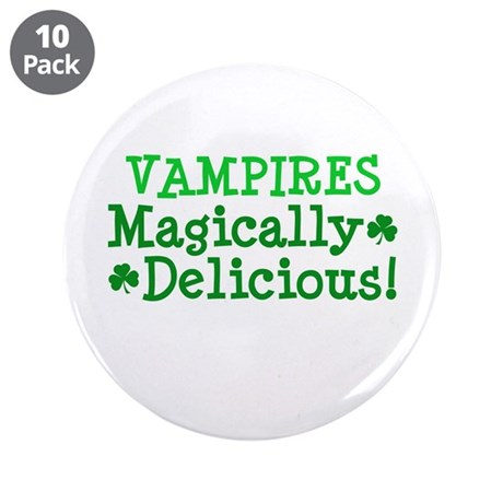 "Vampires Magically Delicious 3.5"" Button (10 pack)"