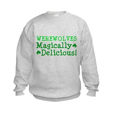 Werewolves Delicious Kids Sweatshirt