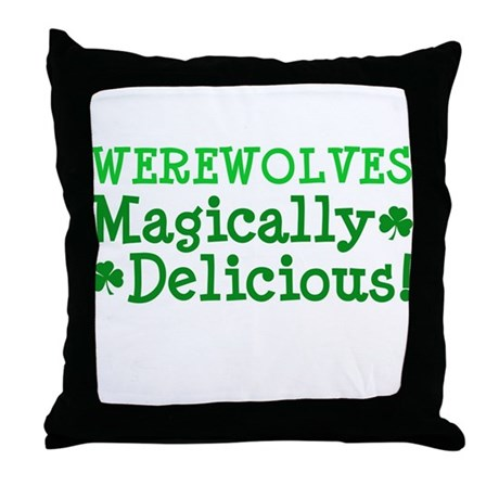 Werewolves Delicious Throw Pillow
