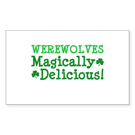 Werewolves Delicious Rectangle Sticker