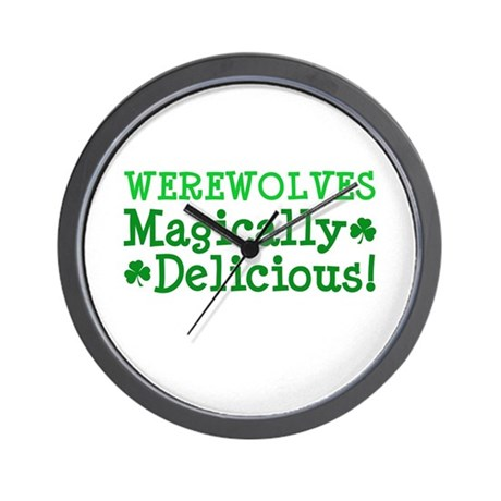 Werewolves Delicious Wall Clock