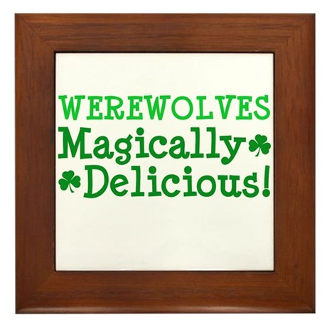 Werewolves Delicious Framed Tile