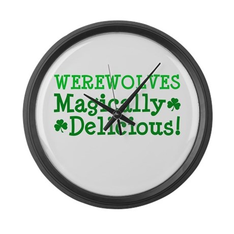 Werewolves Delicious Large Wall Clock