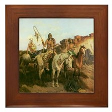 Prowlers of the Prairie Framed Tile