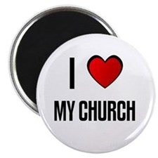 "I LOVE MY CHURCH 2.25"" Magnet (10 pack)"